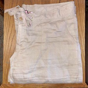 in EUC Juicy Couture Ecru Linen Drawstring Pants
